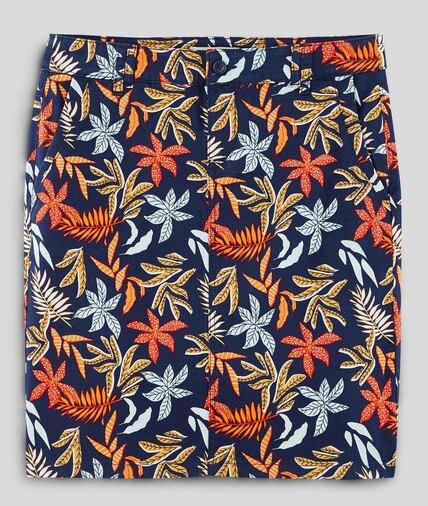 Jupe imprimée en coton femme IMPRIME