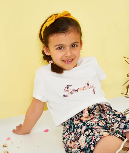 T-shirt blanc à message pour enfant BLANC
