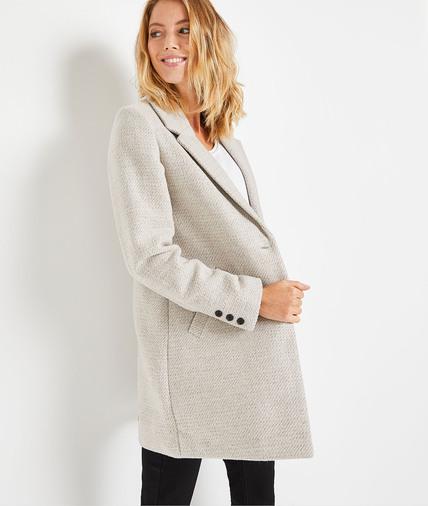 Manteau pardessus gris femme GRIS
