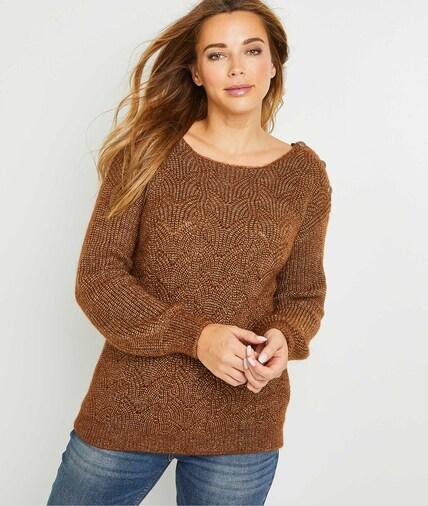 Pull en tricot camel femme CAMEL