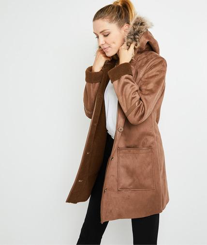 Manteau doux caramel femme CARAMEL