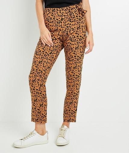 Pantalon fluide léopard femme PEAU DE BETE