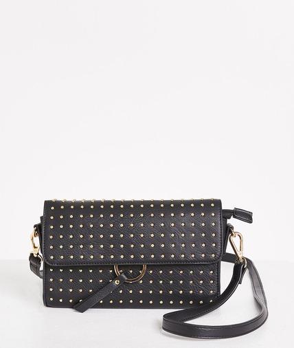 Petit sac noir clouté femme NOIR