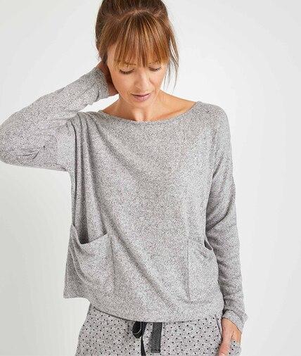 T-shirt homewear gris femme GRIS