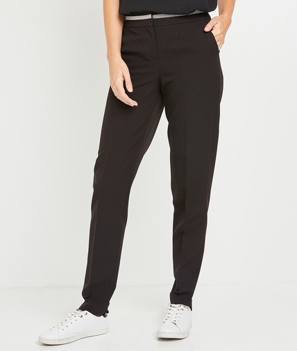 Pantalon de tailleur noir femme NOIR
