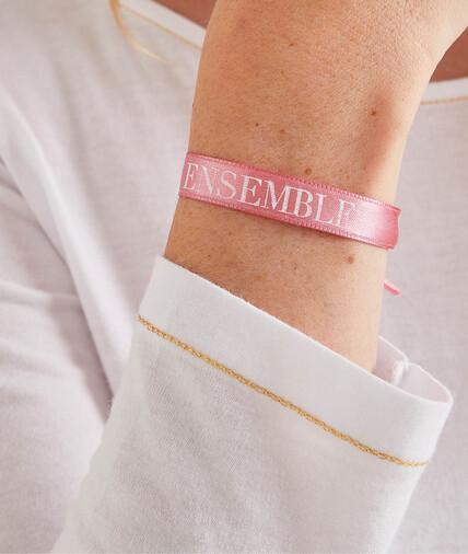 Bracelet octobre rose femme ROSE