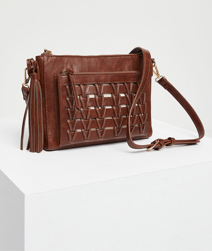 Petit sac en simili cuir marron femme MARRON