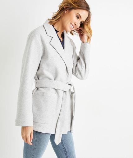 Manteau de mi-saison gris femme GRIS