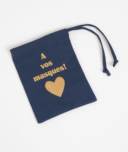 Petit sac à masque en coton MARINE