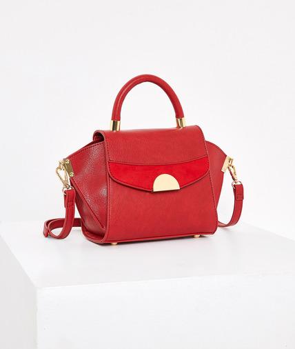 Petit sac rouge à bandoulière femme ROUGE