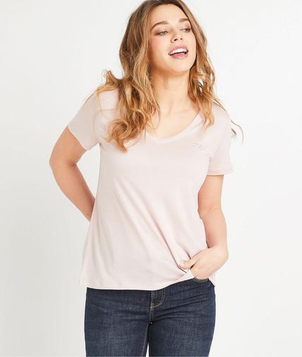 T-shirt uni en lyocell femme ROSE