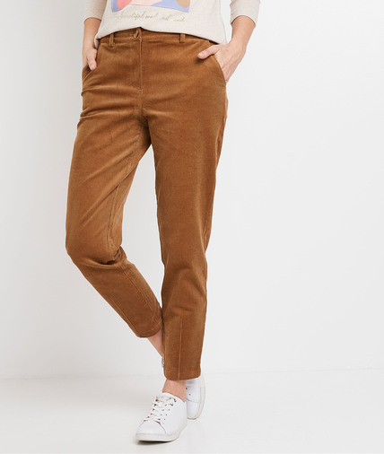Pantalon en velours camel femme CAMEL