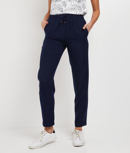 Pantalon fluide marine femme MARINE