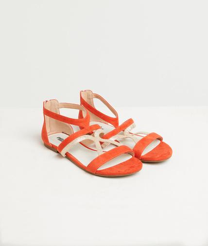 Sandales plates oranges femme ORANGE