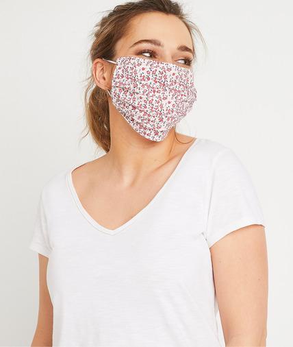 Masque en tissu fantaisie femme ROUGE
