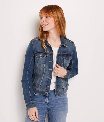 Veste en jean basique femme STONE