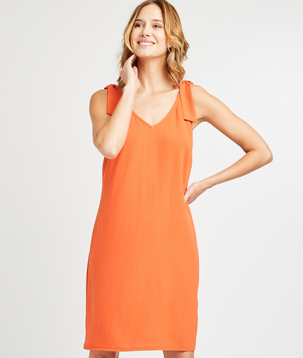 Robe droite orange femme ORANGE