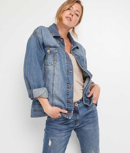 Veste en jean oversize femme STONE