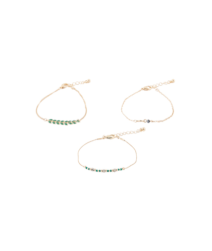 Set de 3 bracelets fins VERT