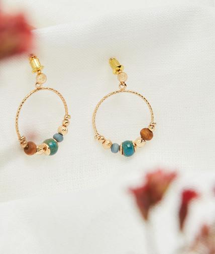Boucles d'oreilles perles céramiques 3 TONS