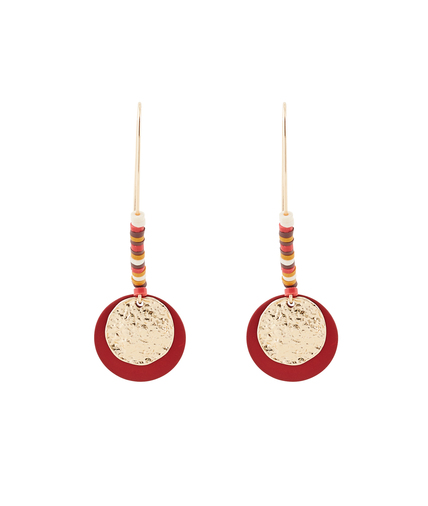 Boucles d'oreilles disque martelé 3 TONS