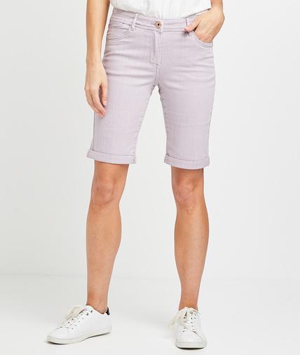 Bermuda en jean lilas femme LILAS