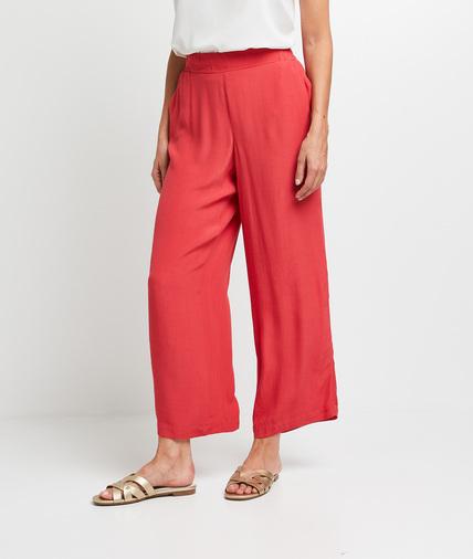 Pantalon large fluide corail femme CORAIL