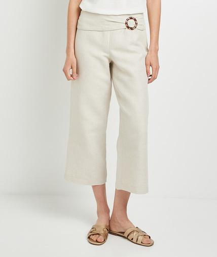 Pantalon large femme BEIGE