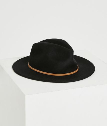 Chapeau en feutrine noir femme NOIR