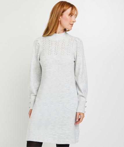 Robe pull femme GRIS