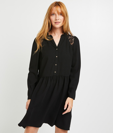 Robe fluide noire femme NOIR