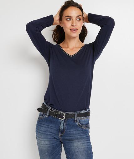 Tshirt manches longues femme MARINE