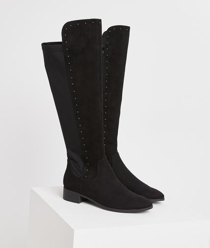 Bottes cuissardes noires femme NOIR