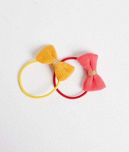 Set de 2 élastique jaune et rose 2 TONS