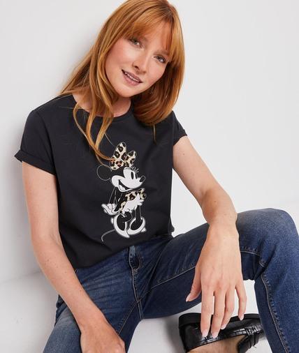 Tshirt Minnie femme GRIS