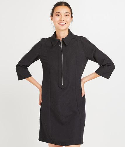 Robe noire zippée femme NOIR