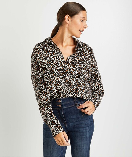 Chemise léopard femme BEIGE