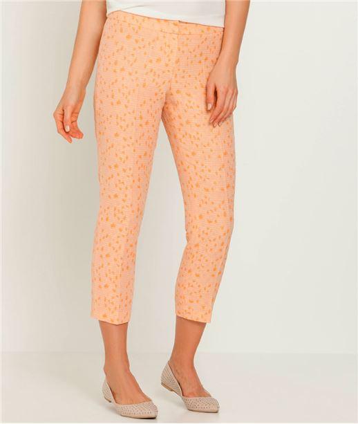 Pantalon femme imprimé jaquard CORAIL