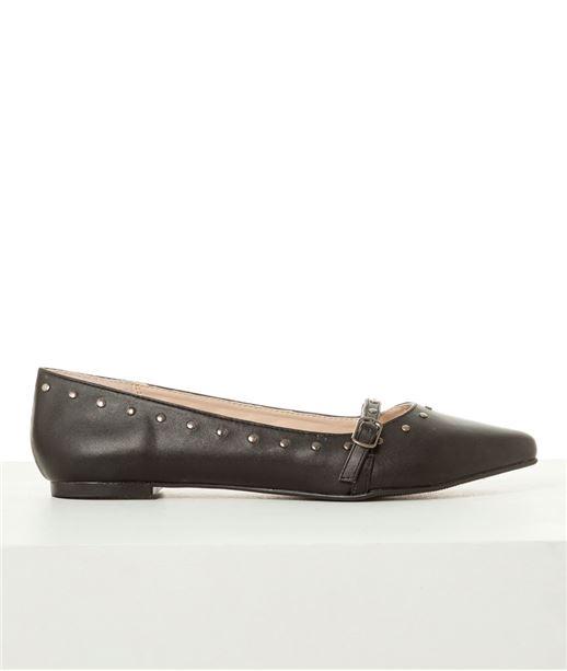 Chaussures femme ballerines bout pointu NOIR