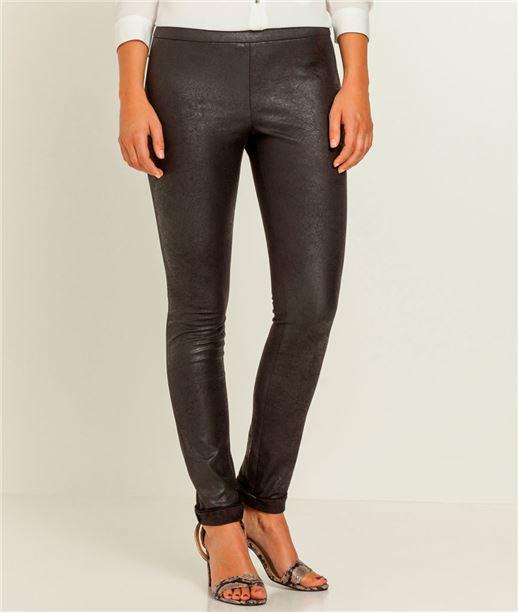 Pantalon femme legging suédine NOIR
