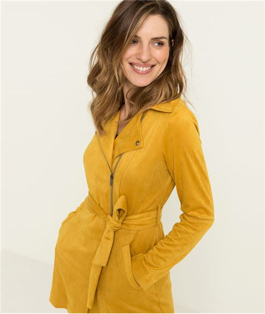 Trench femme suédine CURRY