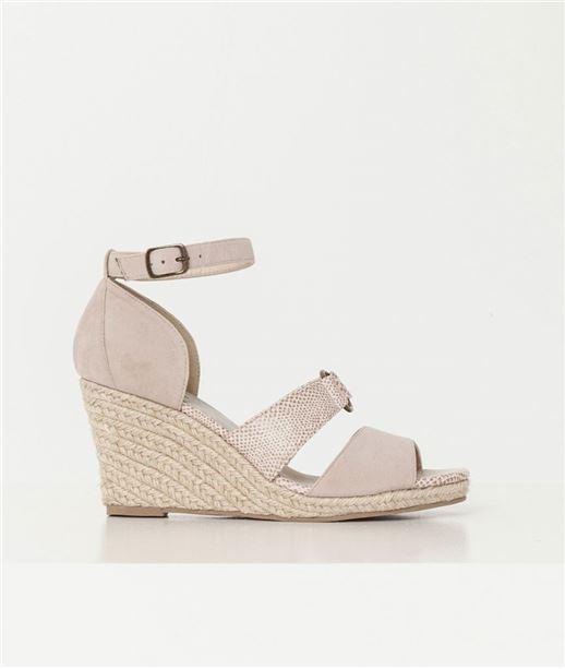 Chaussures femme compensées en corde BEIGE