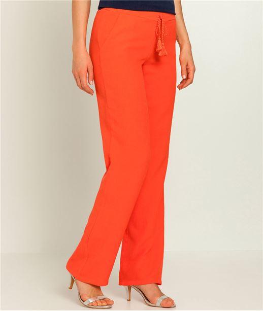 Pantalon femme taille élastiquée fluide CORAIL