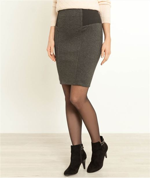 Jupe femme milano GRIS CHINE