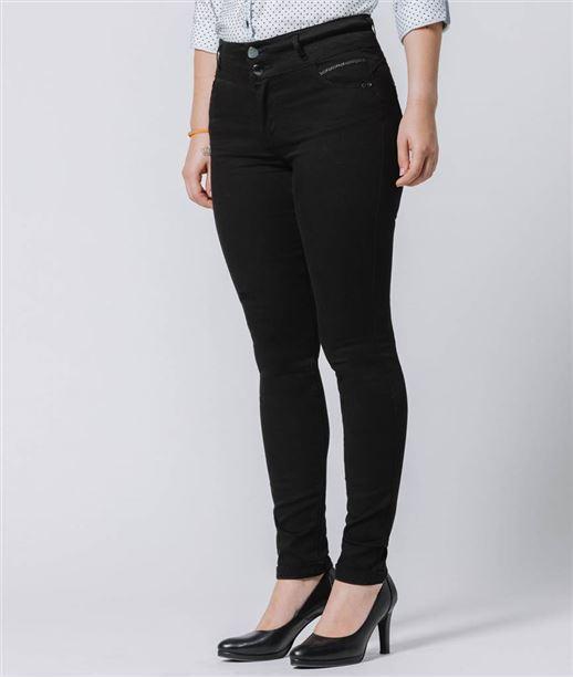 Jean femme taille haute BLACK