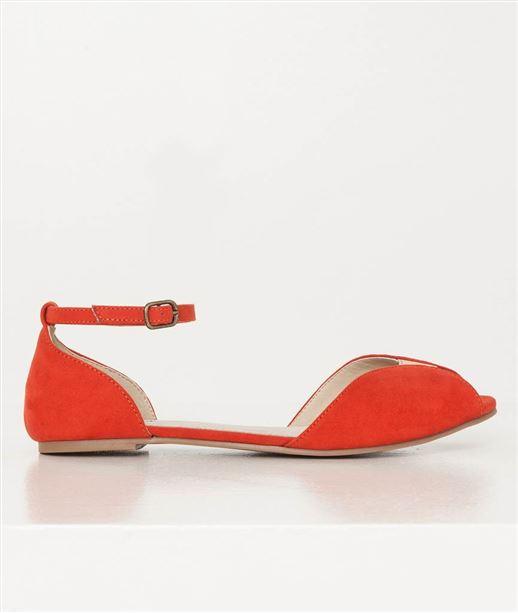 Chaussures femmes ballerines orange ORANGE