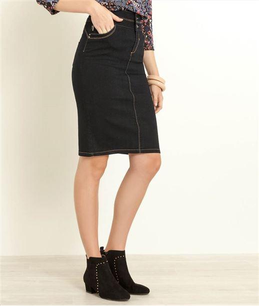 Jupe femme taille haute BLUE BLACK