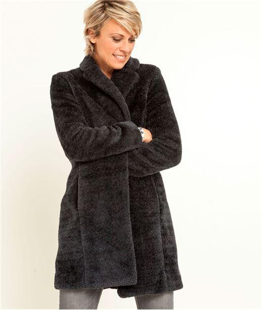Manteau femme gris bleu