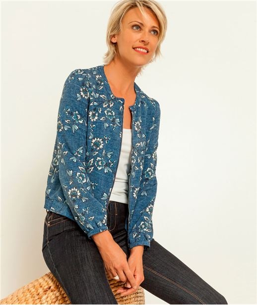 veste femme blazer bombers blouson veste en jean grain de malice. Black Bedroom Furniture Sets. Home Design Ideas