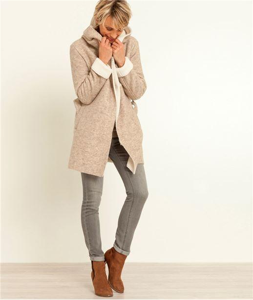 Manteau femme forme peignoir BEIGE